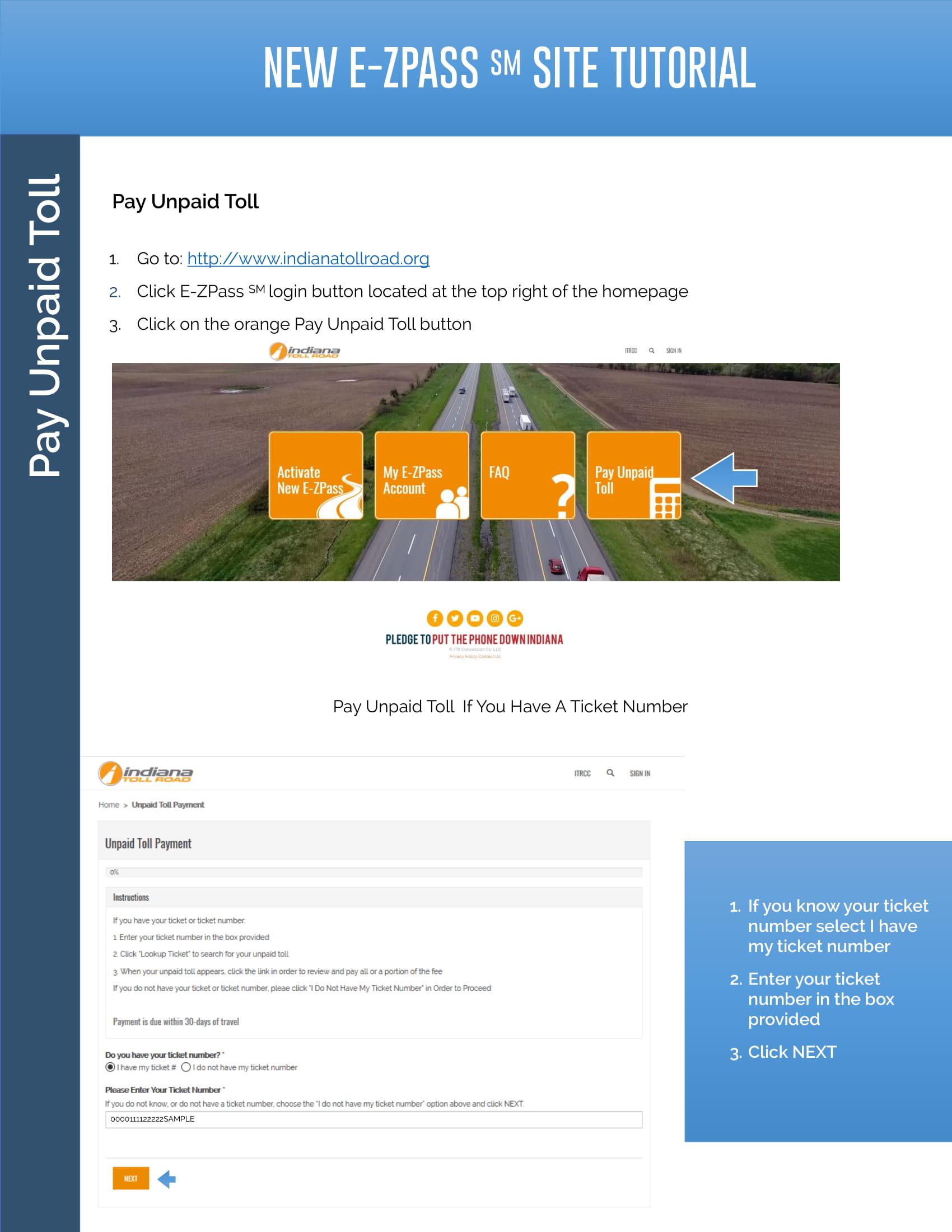 Pay Unpaid Toll Tutorial - ITR Concession Co  LLC